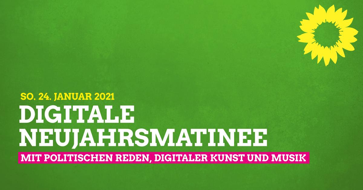 Digitale Grüne Neujahresmatinee 2021